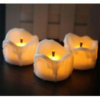 Flameless Yellow Flicker Tear Wax Drop Candle Mini Battery Operated Tea Lights New Arrive Realistic Led Tea Light Candle Manufactures