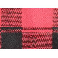 China Drop Needle Acquard Knitted Check Wool Fabric Red Curry Rice Blank Squares on sale