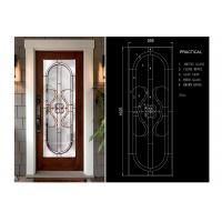 Classical Thermal / Sound Insulation Door Art Glass Sheets With Black Chrome Manufactures