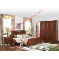 English Country Style Solid Wood Bed in Wooden Bedroom Furniture sets Manufactures
