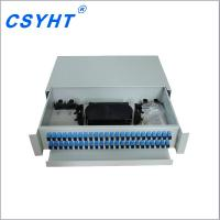 Customized Fiber Optic Cable Termination Patch Panel Cold Rolled Steel Easy Operation Manufactures