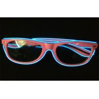 Eco - friendly Night Club Promo El LED Glow Sunglasses With Electro Luminous Wire Manufactures