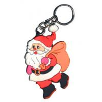 Nice Chirstmas gift PVC rubber logo key chain Manufactures