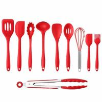10PCS Premium Amazon Top Seller Cooking Set Heat-Resistant Flexible Kitchen Tools Gadgets Silicone Kitchen Utensil Manufactures