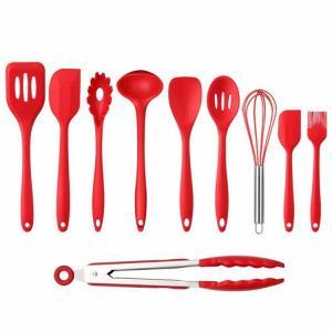 10PCS Premium Amazon Top Seller Cooking Set Heat-Resistant Flexible Kitchen Tools Gadgets Silicone Kitchen Utensil Manufactures