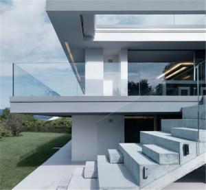 Quality High quality U channel base tempered glass deck railing / U profile frameless for sale