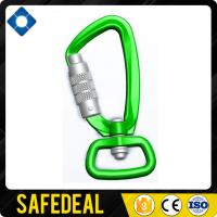 High Quality Light Aluminum Swivel Carabiner with Straight Gate Manufactures