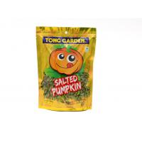 Ziplock Bottom Gusset Salted Pumpkin Snack Reclosable Bags Standing Pouch Manufactures