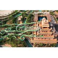 Kids and Adults Green Water Roller Coaster / Fiberglass Water Slides for Aqua park