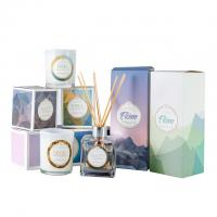 China HOT Selling scented candles & reed diffuser fragrance gift set with glass bottle on sale