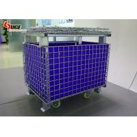 Guangdong factory sells the foldable large-size metal mesh storage cage with anti-static plastic hollow plate Manufactures
