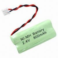 Rechargeable Ni-MH Battery Packs with 1.2V Nominal Voltage Manufactures