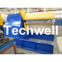 Custom Hydraulic Auto Recoiler Curving Machine With 0 - 15m/min Rewind Speed Manufactures