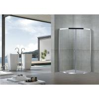 Chromed Stainless Steel Diamond Shower Doors Double Sliding 8 MM Clear / Forsted Glass Manufactures