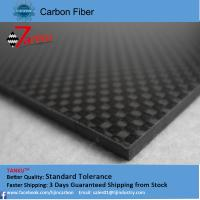 Buy cheap High Strength Reinforced Plastic 3K Carbon Fiber Plate , Matte Plain Carbon Fiber Sheets from wholesalers