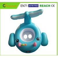 Eco Friendly PVC Colorful Baby Swimming Ring Toddler Inflatable Boat With Seat