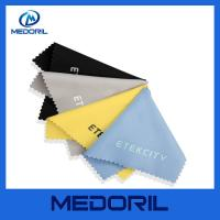 Factory custom print microfiber glasses cleaning cloth with customer logo Manufactures