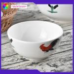 Vintage porcelain 5inch bowls  Chicken Boy decal  handmade ceramic soup bowl salad bowl Manufactures