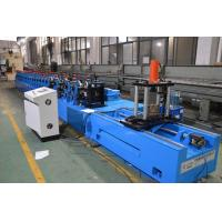 Galvanized Steel S235JR Rack Roll Forming Machine Chain Driven Multi Language Manufactures