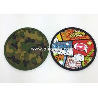 Custom anti-slip soft pvc round shape 2d with any image design coaster Manufactures