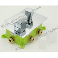 Quality concealed square brass shower faucet,Bathroom best price concealed bath shower mixer tap with diverter for sale
