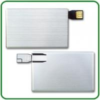 Personalized alloy Credit Card USB Drives pendrive with 64M, 128M memory  (MY-UCM02) Manufactures