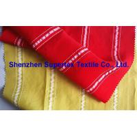 Yarn Dyed Stripes Cupro Viscose Polyester Shirt Fabric Manufactures