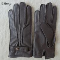 China Genuine Wool Lined Mens Soft Leather Gloves Deer Skin Mens Leather Gloves on sale