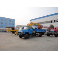 Dongfeng 140 long nose 4*2 3-4ton truck mounted crane for sale,best price dongfeng 4tons cargo truck with foled crane Manufactures