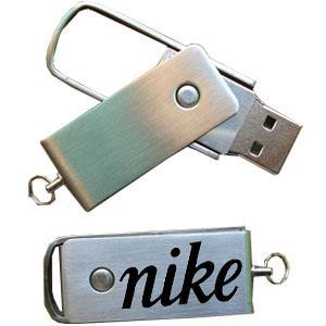 China Metal Twister USB Memory Sticks Laser Engraved Logo Printed usb flash drive 8GB on sale