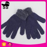 China Yiwu Wholesale Online Shopping Winter Special Colorful Fleece Violet Ladies Gloves on sale