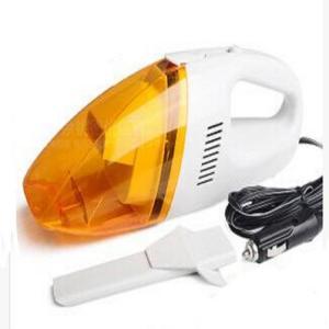 Orange Auto Vacuum Handheld Car Vacuum Cleaner Dc12v With Washable Filter Manufactures