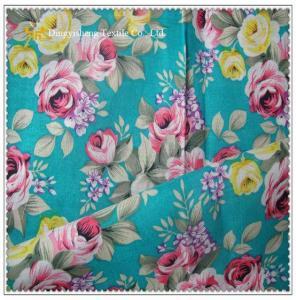 China 100% Cotton Flower Print Fabric on sale