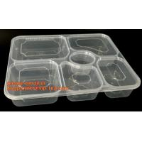 Disposable biodegradable plastic fiffin lunch box,compartment lunch box with lid