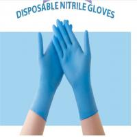 Low price Blue Medical Grade Disposable Nitrile Gloves Texfured finger 3.0g/3.5g/4.0g/4.5g/5.0g XS, S,M,L,XL,XXL Manufactures