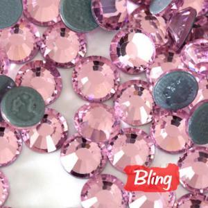 SS20 Hot-Fix Rhinestones Light Rose; Iron-On Diamond Beads Manufactures