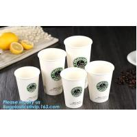 High quality disposable paper cup lower price coffee cup,ripple double single