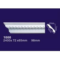 China Pu / Polyurethane Ceiling Crown Molding White Color For House Decorative on sale