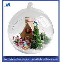 Glass house miniature model diy puzzle for kids dollhouse miniature MG007 Manufactures