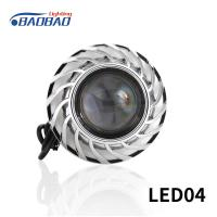 China LED04 Double angel eye without fan motorcycle led headlight projector lens on sale