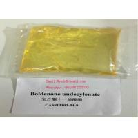 CAS 13103-34-9 High Purity Yellow  Boldenone Steroid Liquild Boldenone Undecylenate/EQ For Boday Treatment Manufactures
