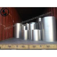 Customized Stainless Steel Well Screen , Industrial Welded Wedge Wire Screen Manufactures
