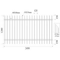 H1200mmxW2450mm Hercules Fence Panels 45 mitred Picket 19mm*19mm Rail 40mmx40mm x 2 Manufactures