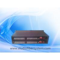 OEM 16CH HD/3G SDI to fiber converter,16CH SDI signals transmission over 1 fiber for broadcast or CCTV system Manufactures