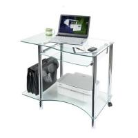 Modern Clear Glass Computer Desk For Home Manufactures