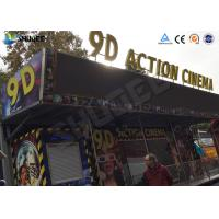 Metal Flat Screen 9D Movie Theater , Truck Mobile Cinema Private Customized Manufactures