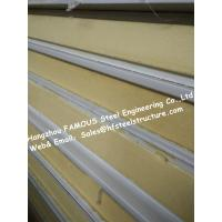 Gray / White Cold Room Panel Polyurethane / PU Sandwich Panels , Width 950mm