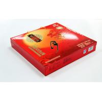 China Elegent Red Printed Recycled Cardbaord Paper Gift Boxes , Moon Cake packaging on sale