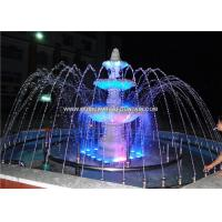 Stainless Steel Garden Water Fountains With Led Lights Stone Garden Products Manufactures
