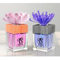 Square Glass Bottle 100ml Elegant Flower Fragrance Reed Diffuser with ISO, SGS TS-RD06 Manufactures